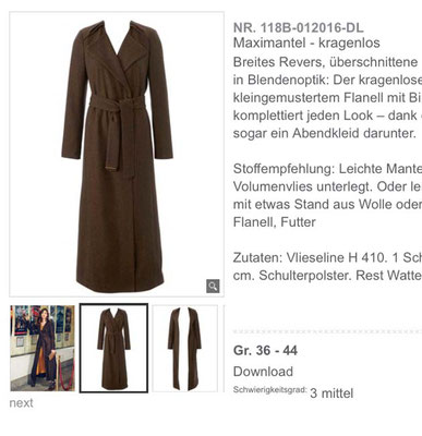 Modell aus 01/2016 Quelle: Screenshot Burdastyle.de