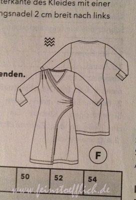 Schnittzeichnung Kleid 17 Knip/Fashionstyle 9/2016
