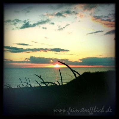 Sonnenuntergang von der Düne aus