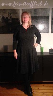 mal ohne Tuch Knipmode Fashionstyle Kleid 2 9/2016