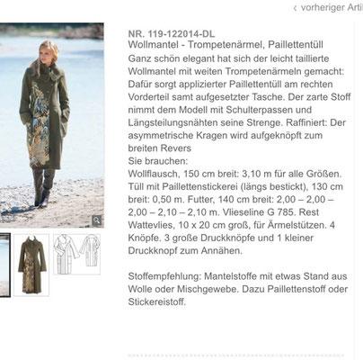 Modell aus 12/2014 Quelle: Screenshot Burdastyle.de