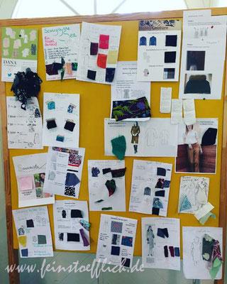 Projekte... ja, oben links ist mein Steckbrief und es sind zwar alle Stoffe aber nicht alle Schnitte drauf