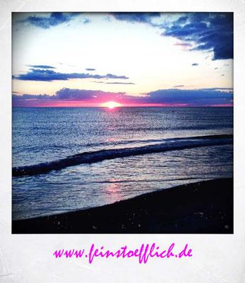 Sonnenuntergang angucken.. auch da waren wir wieder fast allein am Strand