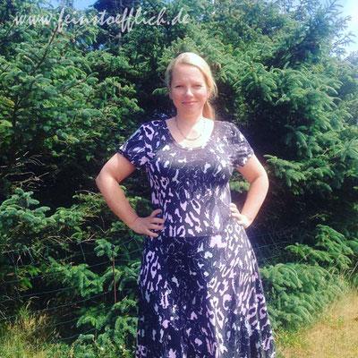 Lady Skater Dress, Stoff vom Tauschtisch bei der Annäherung Süd