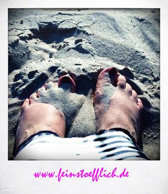nach dem Ankommen geht es immer zuerst an den Strand!