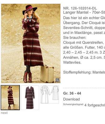 Modell aus 10/2014 Quelle: Screenshot Burdastyle.de