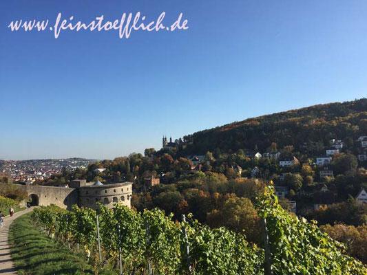 Spaziergang durch die Weinberge zur Festung