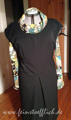 deswegen noch eine Version von Meine Nähmode 4/2013 aus schwarzem Wollstoff vom Maybachufer, Shirt Renfrew Top