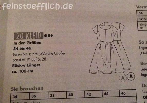 Baukastenkleid Fashionstyle 08/2015