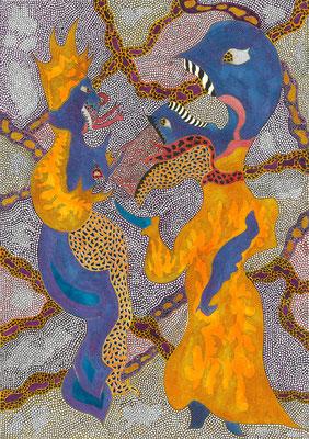 Feuer Zustände2, ink on paper, 42 x 29,7 cm, 2015
