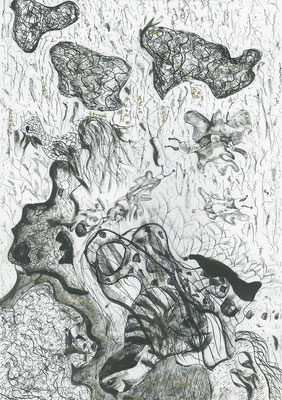 Rain Poetry, ink on paper, 42,7 x 30 cm, 2007