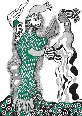 Xun, ink on paper, 29,7 x 21 cm, 2016