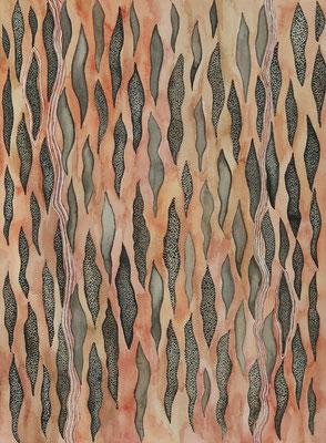 Tree bark, watercolour on paper, 31x23cm, 2021