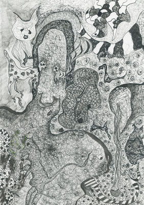 Time, ink on paper, 42,5 x 29,7 cm, 2007