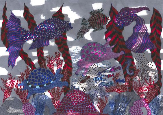 Wasser, ink on paper, 29,7 x 42 cm, 2013