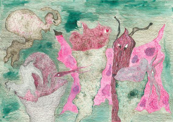 Fertility, ink on paper, 29,7 x 42 cm, 2007