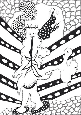 Twisted tongue, ink on paper, 29,7 x 21 cm, 2016