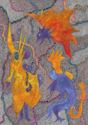 Feuer Zustände, ink on paper, 42 x 29,7 cm, 2013