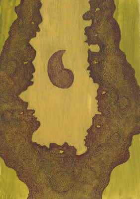 Filled with wonder, ink on cardboard, 36 x 25 cm, 2008