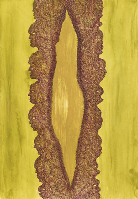 Opening, ink on cardboard, 36 x 25 cm, 2008