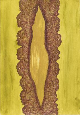 Opening, ink on cardboard, 36 x 25 cm, 2008