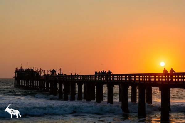 Sonnenuntergang über der Swakopmunder Jetty