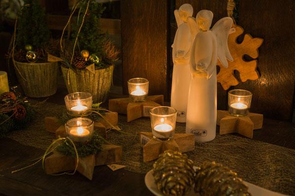 Adventsdekoration, Kerzen, Engel zu Weihnachten Würzburg