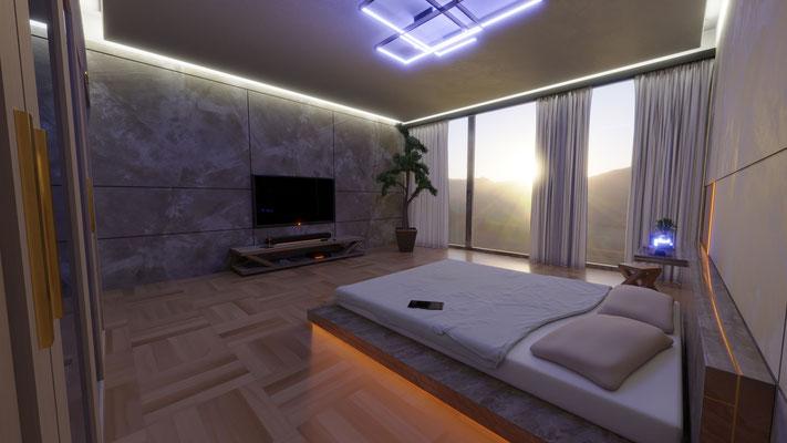 Skyscraper Bedroom [Blender]