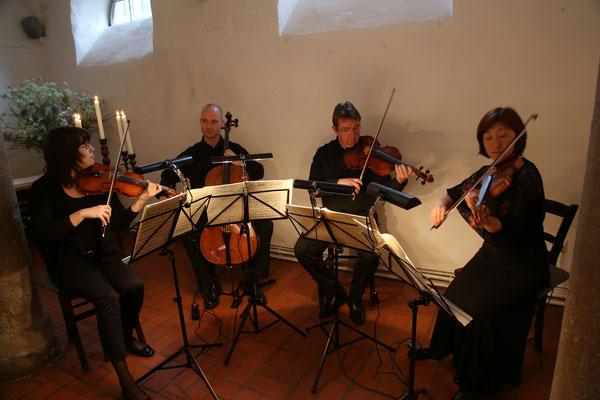 Quartett-Konzert im Weingut Janson-Bernhard in Zellertal-Harxheim