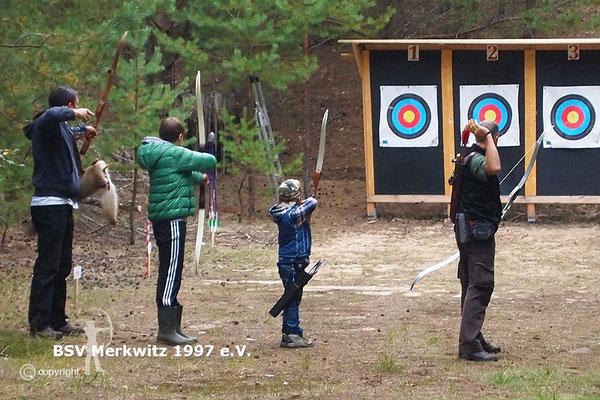 3D Schiessen, Training auf dem Bogenparcours in Bad Belzig