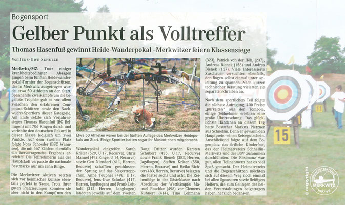 5. Heidewanderpokal am 14.08.2004 in Merkwitz