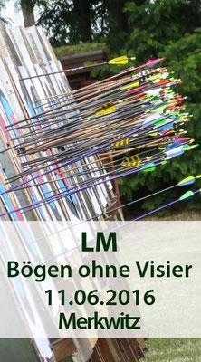Landesmeisterschaft Bögen ohne Visier im Freien am 11.06.2016 in Bad Schmiedeberg/ OT Merkwitz