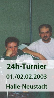 BSV Merkwitz 1997 e.V. beim 24 Stunden-Turnier am 01./ 02.02.2003 in Halle-Neustadt