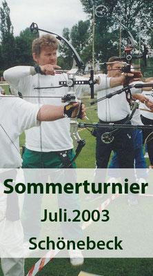 BSV Merkwitz 1997 e.V. beim 6. Schönebecker Sommerturnier im Juli 2003
