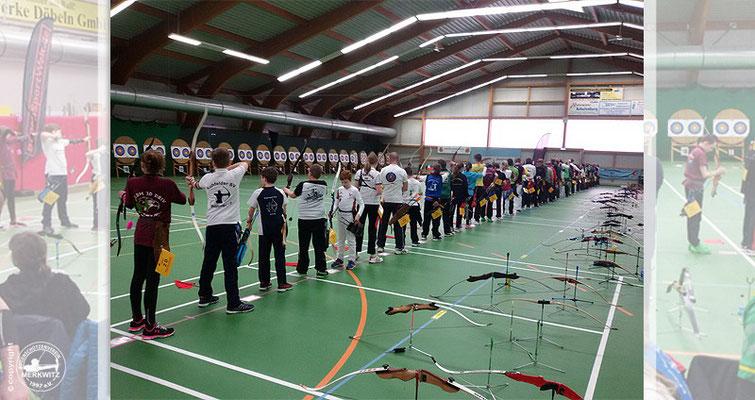 Merkwitzer Bogenschützen bei der DM FITA Halle am 12./ 13.03.2016 in Döbeln