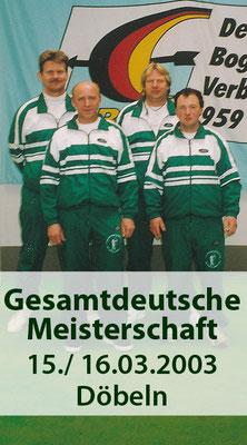 BSV Merkwitz 1997 e.V. bei der Gesamtdeutschen Meisterschaft am 15./ 16.03.2003 in Döbeln