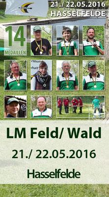 Landesmeisterschaft Feld/ Wald am 21./ 22.05.2016 in Hasselfelde