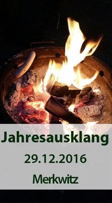Jahresausklang in Merkwitz, 3D in der Kiesgrube, am 29.12.2016