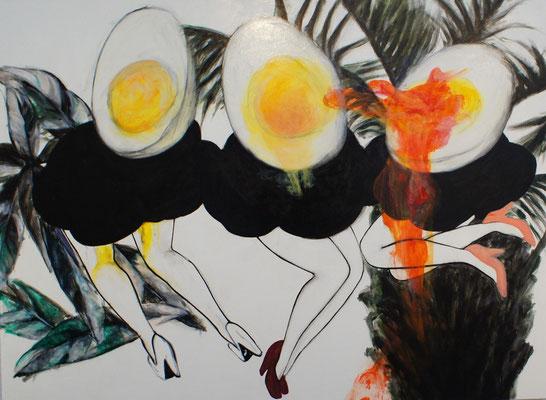 《半熟な気分》 P50 2015 キャンバス、油彩