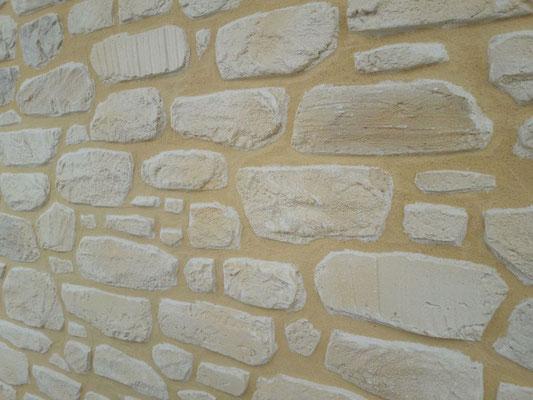 Enduit décoratif fausse pierre