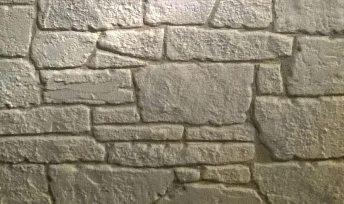 Parement pierre plate et carré
