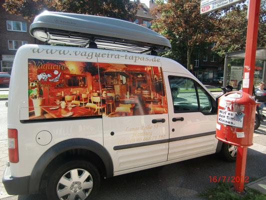 Folienbeschriftung Kfz Restaurant