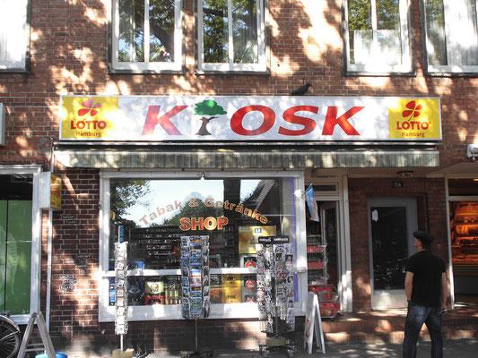 Lichtwerbung Kiosk