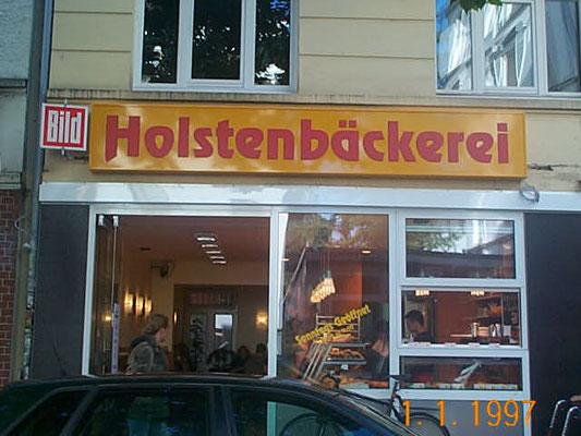 Leuchtreklame für Bäckerei in Hamburg