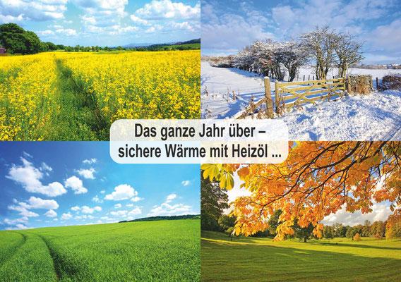 Postkarte Jahreszeiten 4