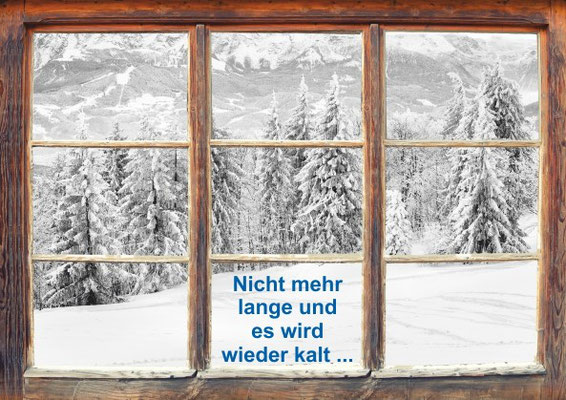Postkarte Winterfenster