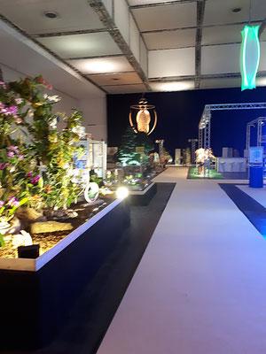 Blick in die Orchideenhalle bei der Dresdner Ostern 2018