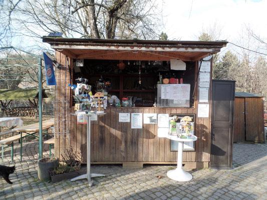 Verkaufspavillion des Elbe-Tier-Park Hebelei