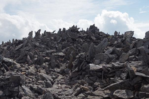針の山。どうやって岩が立ったんだろうか?