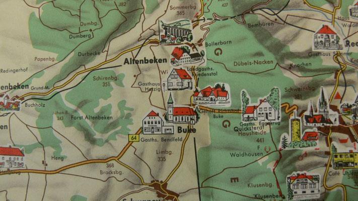Historische Karte Teutoburger Wald